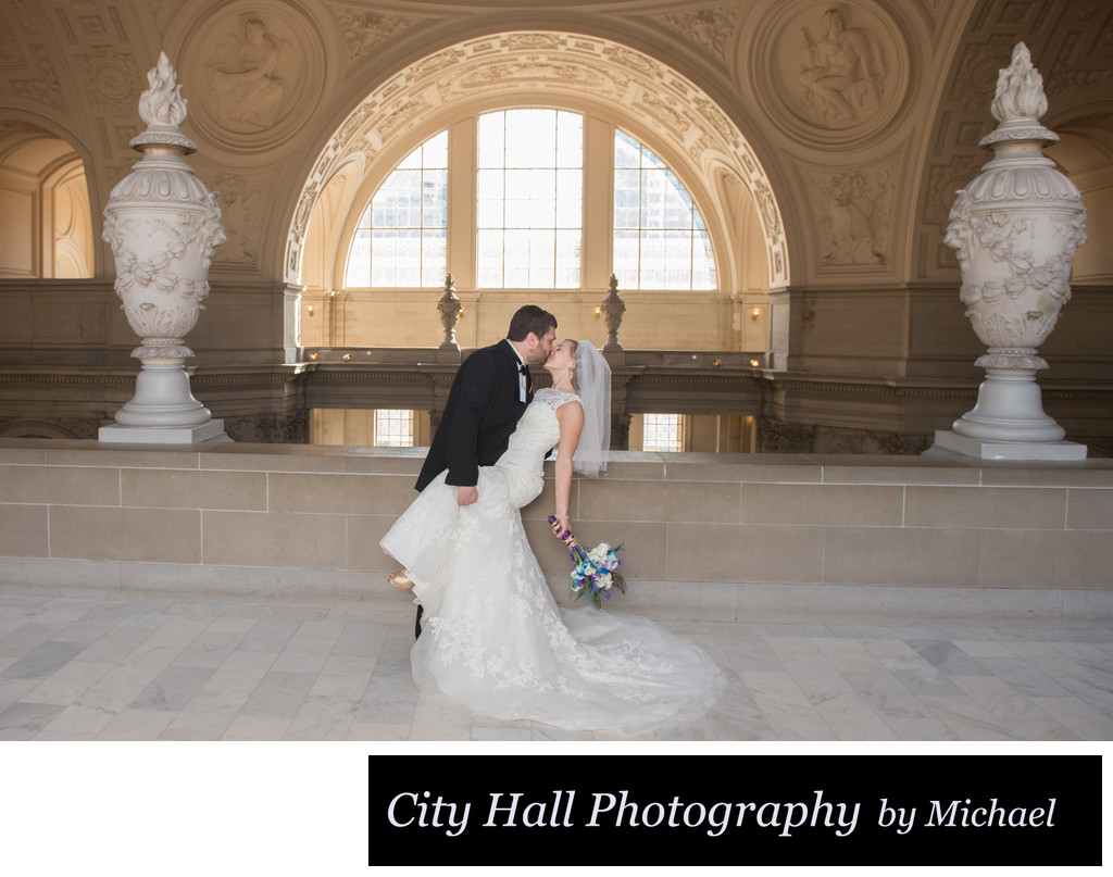 North Gallery Marriage Kiss San Francisco City Hall