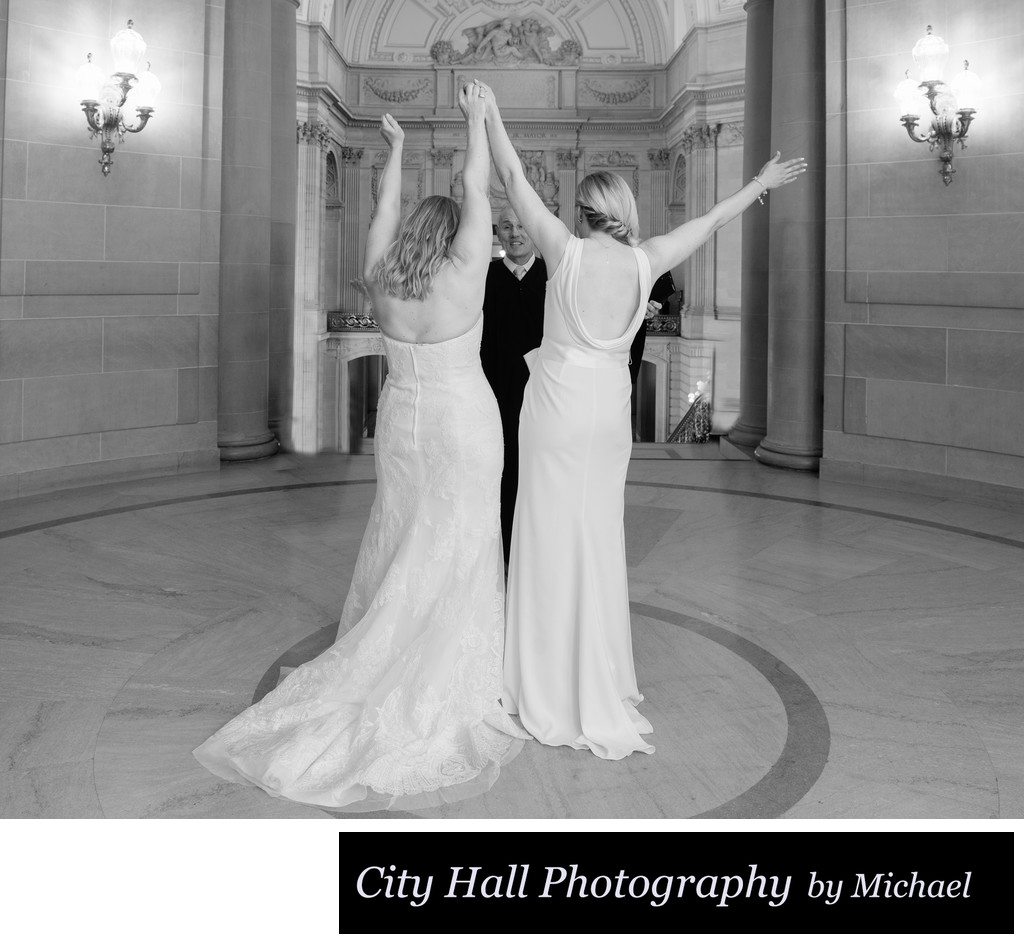 We did it, we got married at San Francisco City Hall