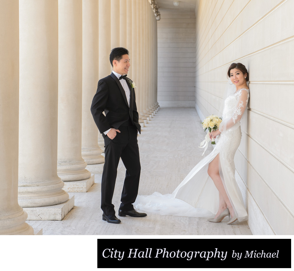 Casual wedding photography at SF Legion of Honor