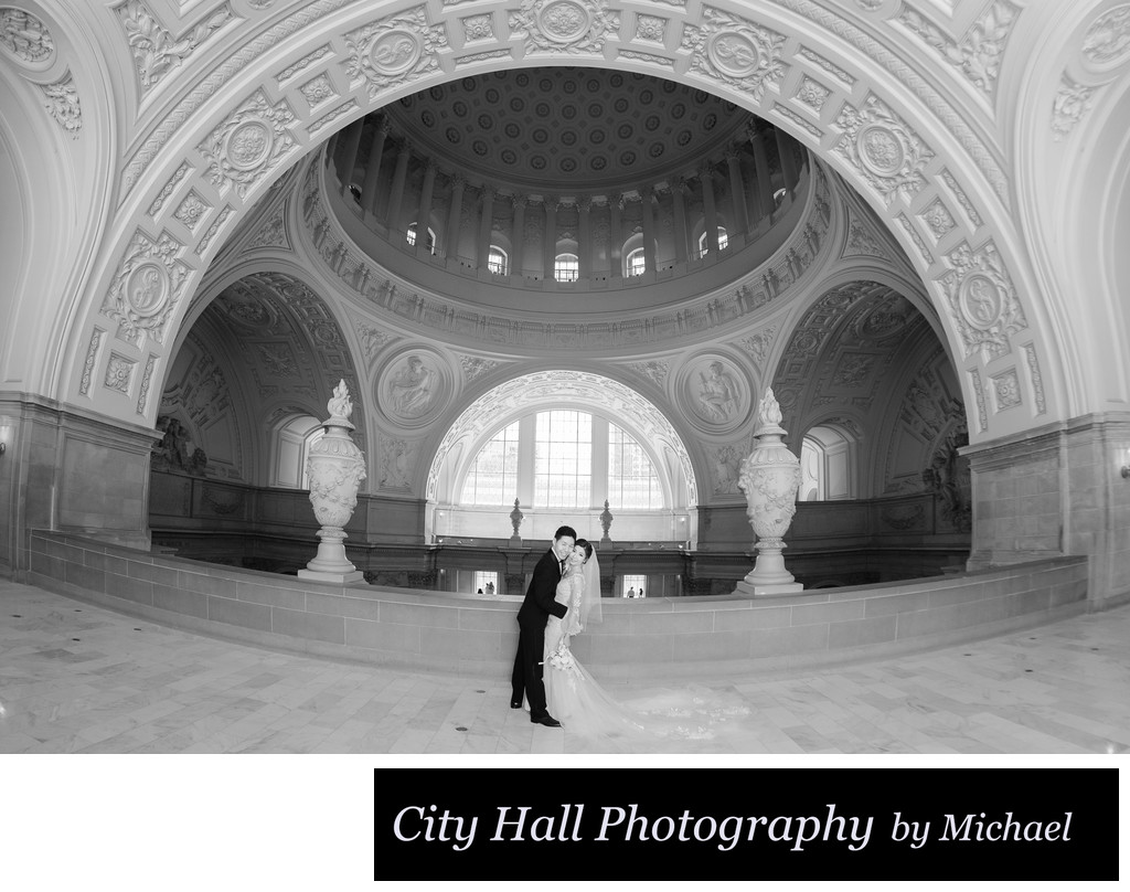 Wide angle Wedding Photography at the 4th Floor Gallery