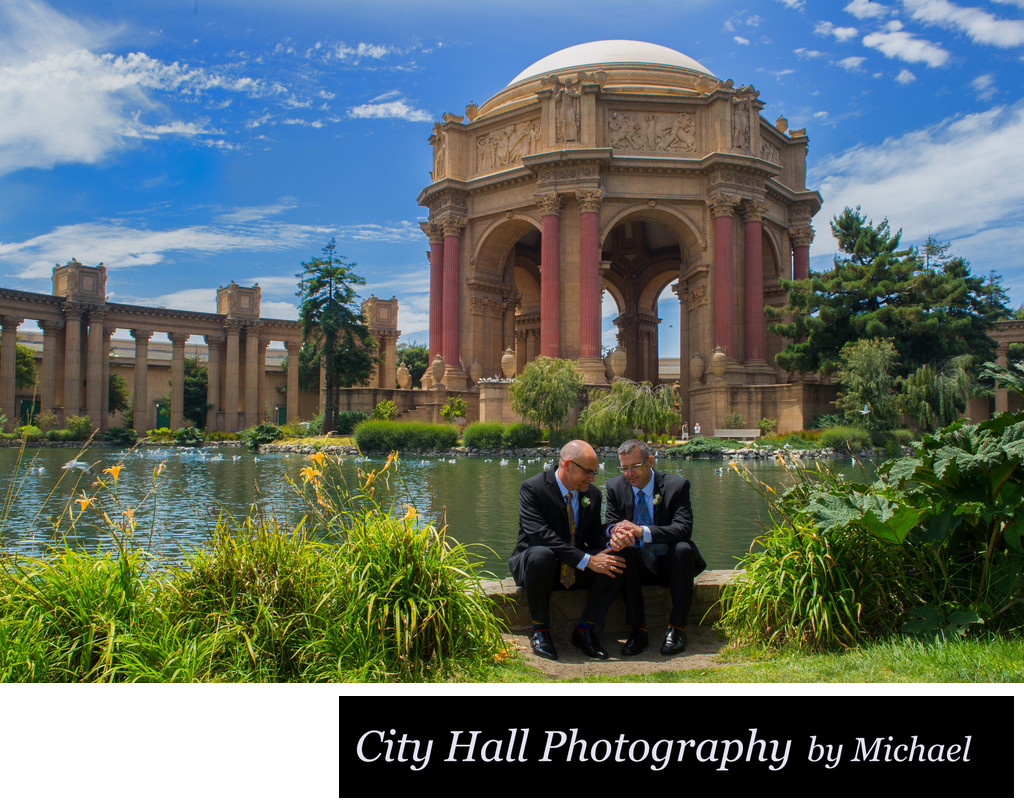 Palace of Fine Arts same sex wedding photographer