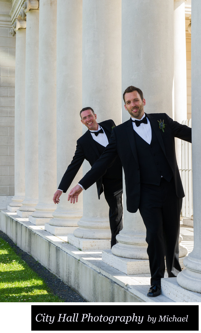 Same sex Legion of Honor affordable wedding photography