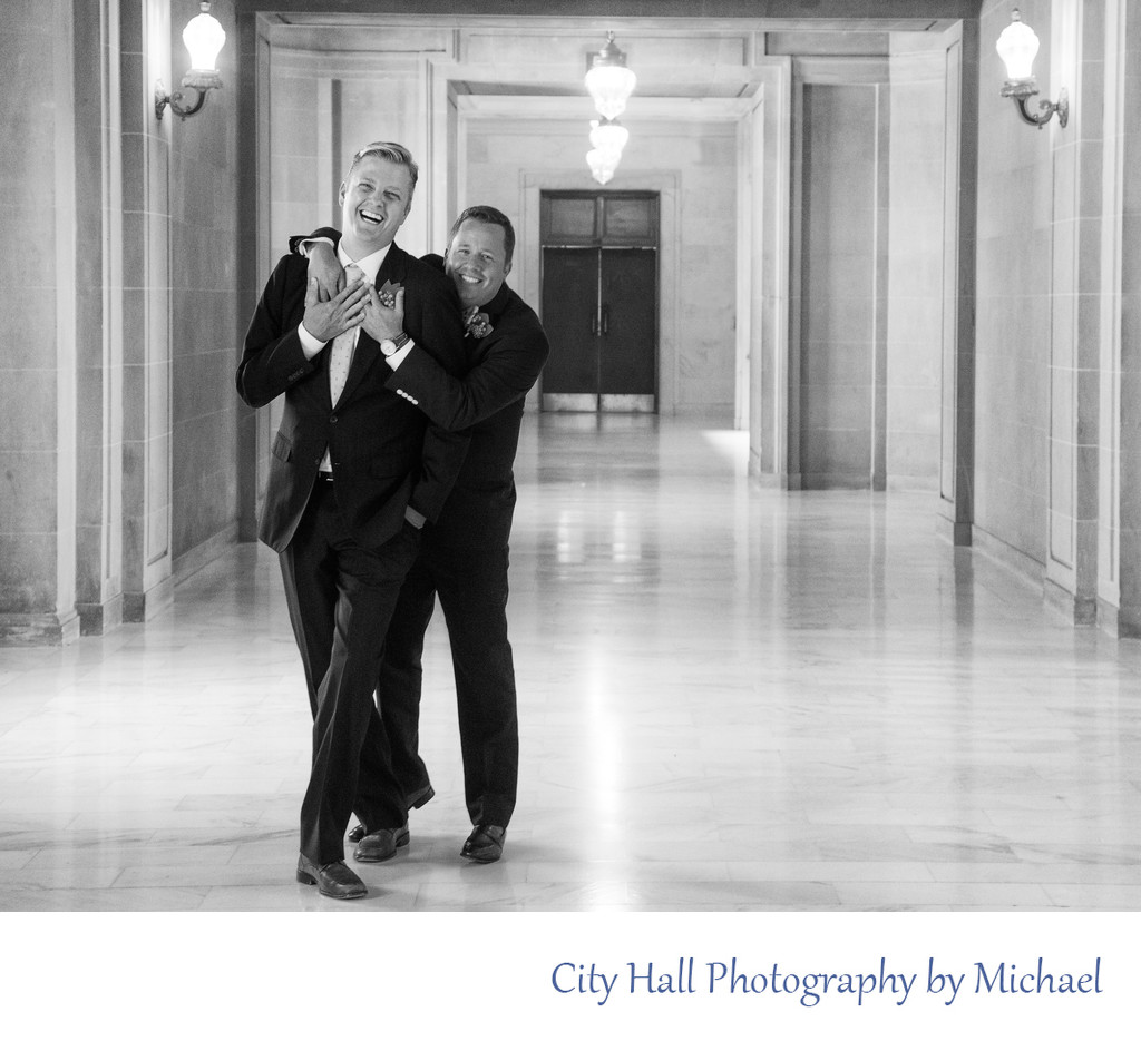 LGBT fun Wedding Image with a Great Gay Couple