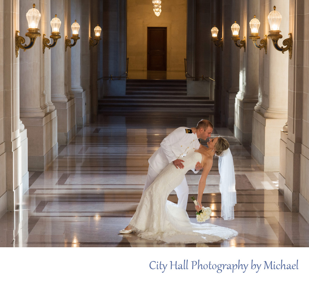 Wedding Photographer San Francisco City Hall - Military Dance