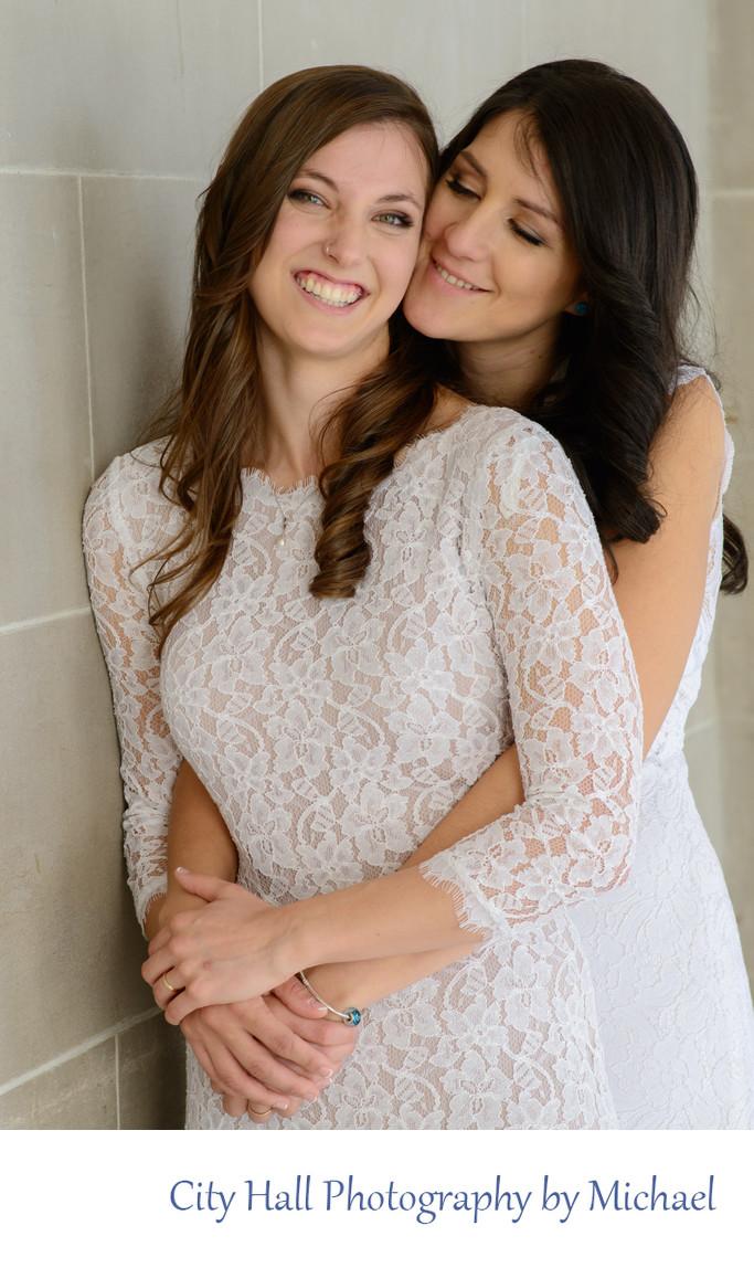 Lgbt Brides In A Romantic Wedding Photography Pose Wedding