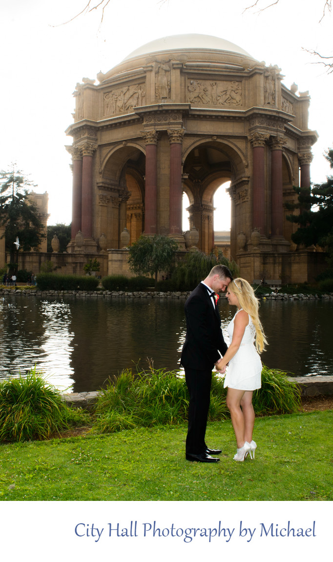 Romantic Pose at the Palace of Fine Arts in San Francisco