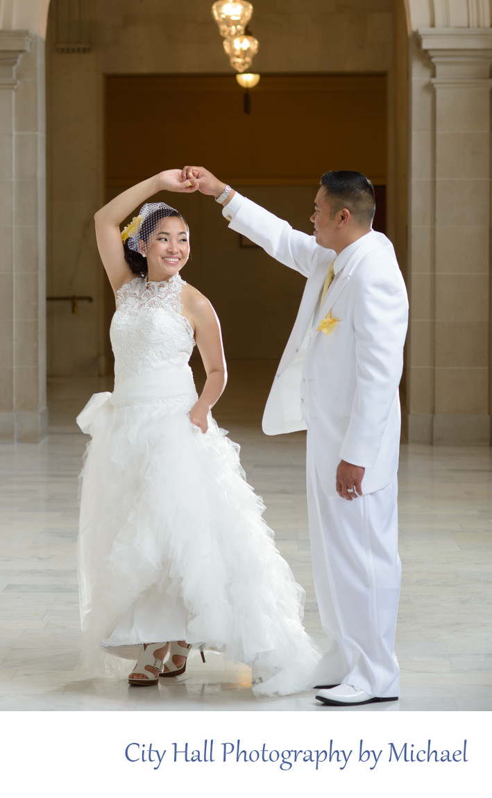 Wedding Photographer San Francisco City Hall - Dance Moves