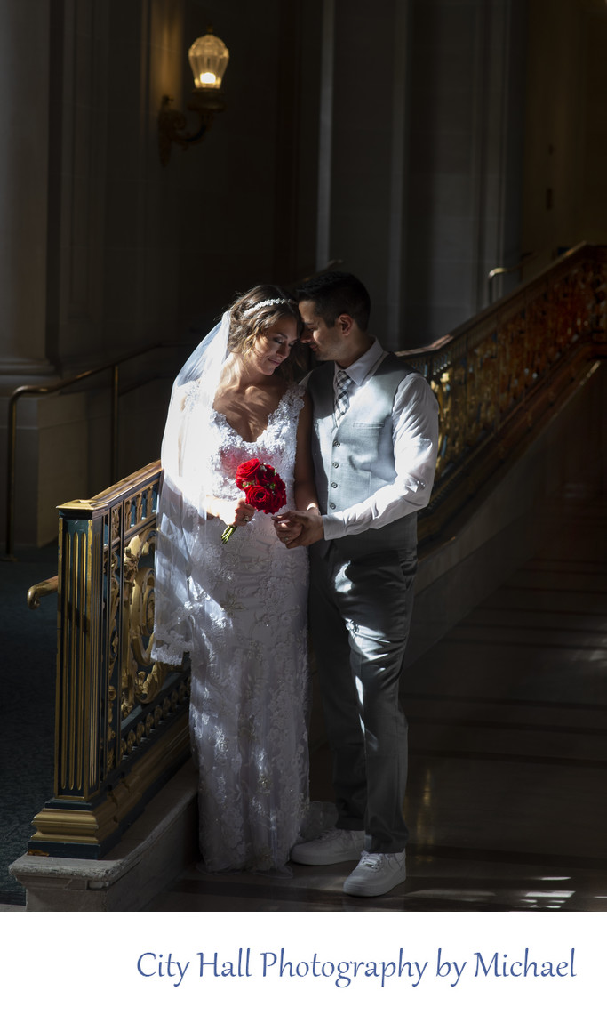 Wedding Photographer San Francisco City Hall - Window Light