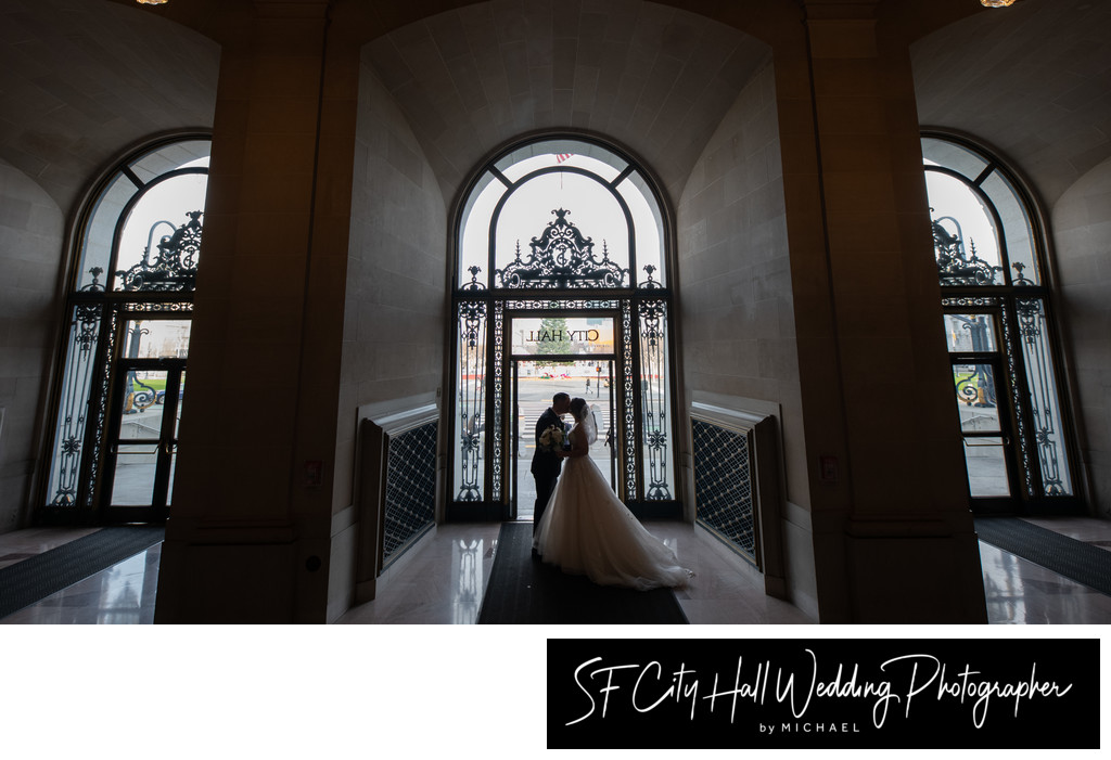 Silhouette  Wedding Photography in San Francisco
