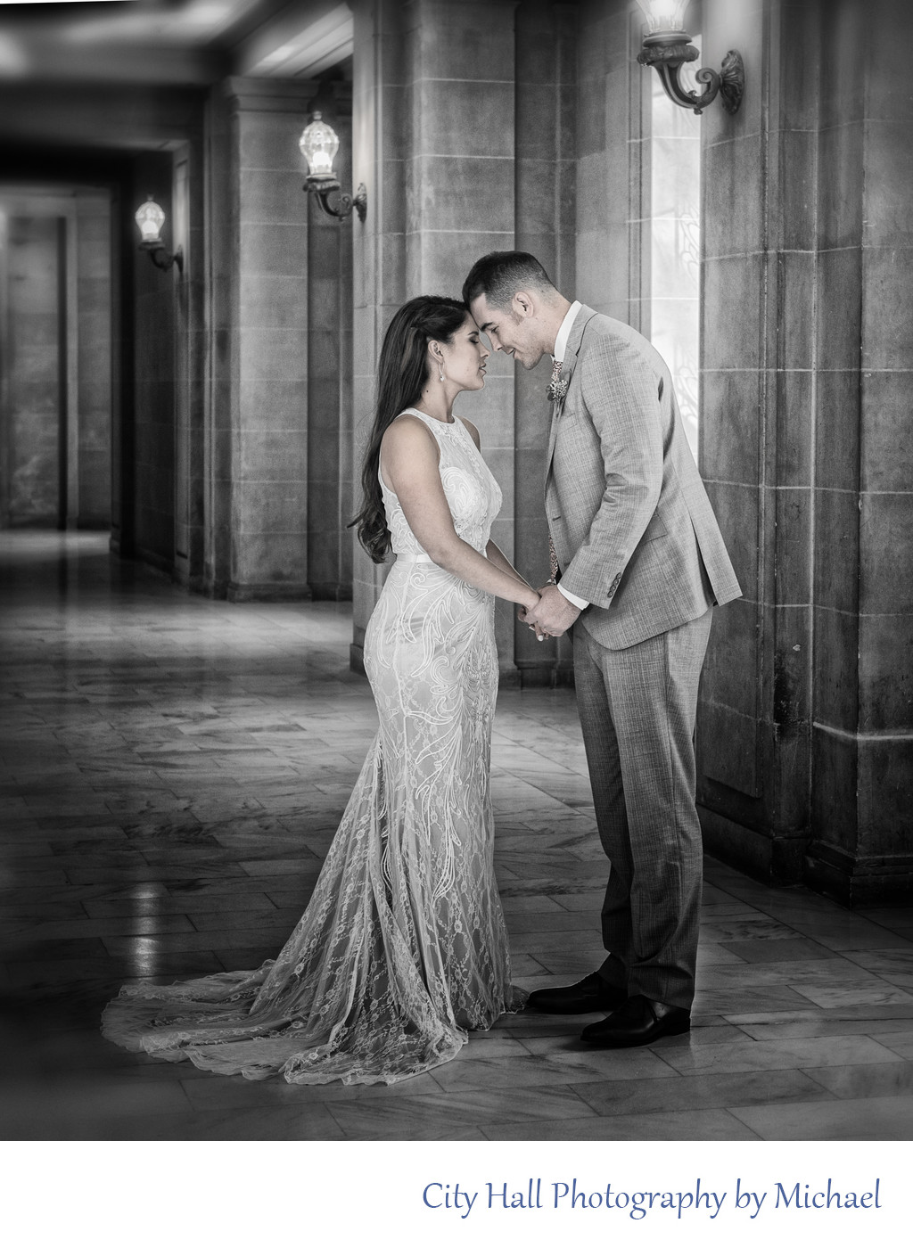 black and white wedding photography in San Francisco