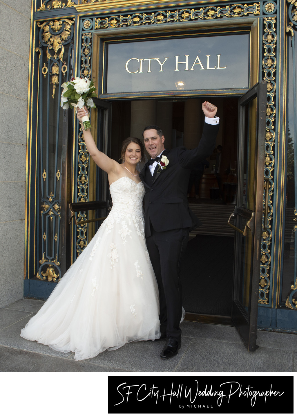 Hooray we got Married at San Francisco City Hall!