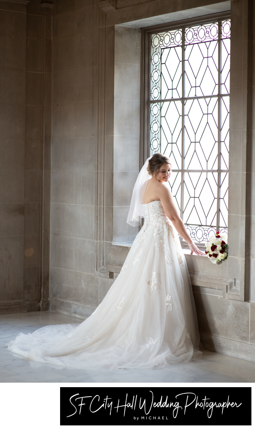Formal Wedding Photography Portrait of City Hall Bride