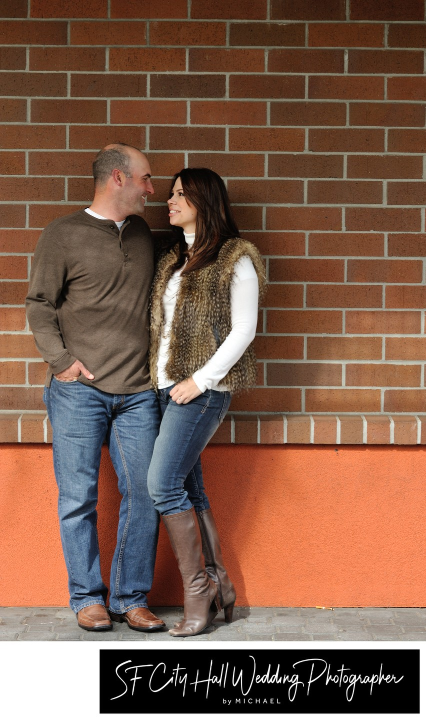 Engagement Portrait Session at Jack London Square