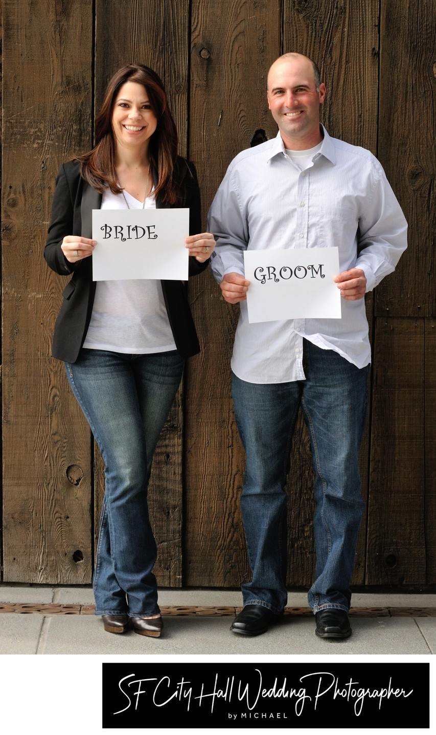 Bride and Groom Posing for Engagement Photography Session
