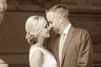Best-City Hall Wedding Photography image in Sepia Tone