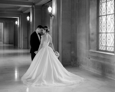 Window Light Wedding photography Town Hall