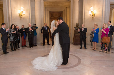 Nuptial Kiss City Hall Wedding Image