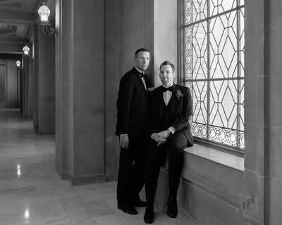 Romance LGBTQ window light in Black and White