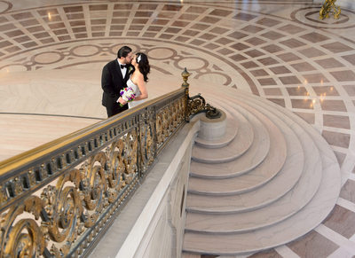 Grand Staircase Railing Photography at SF City Hall