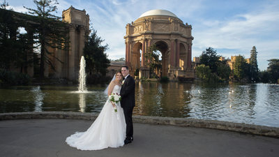 San Francisco Palace of Fine Arts Wedding Photography after City Hall