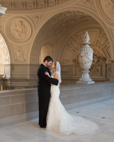 4th Floor City Hall San Francisco romantic wedding photography