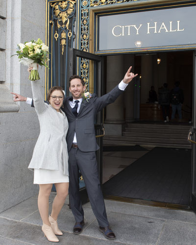 Eloping at San Francisco City Hall!  Congratulations!
