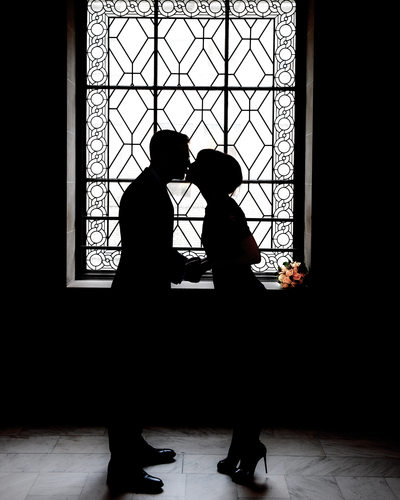 San Francisco Window Silhouette - City Hall Wedding Photographer