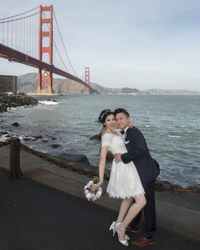 Golden Gate Bridge Wedding Photography in San Francisco