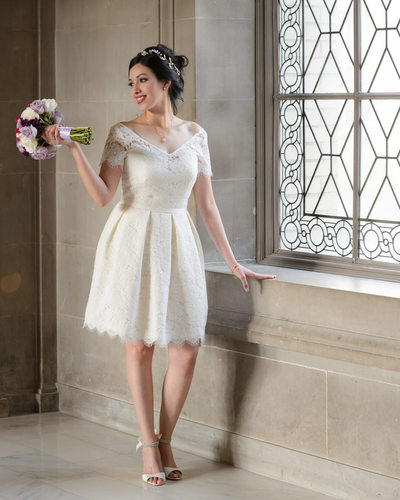 Beautiful San Francisco City Hall Bride by Window