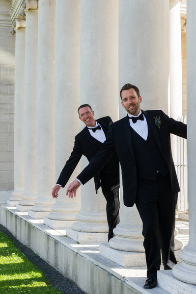 Same-sex Legion of Honor affordable wedding photography