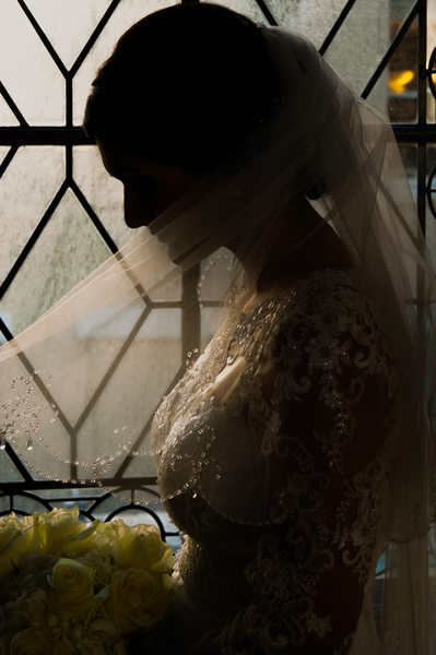 Bridal Profile Image in the City Hall 3rd Floor North Window