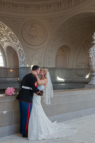 San Francisco City Hall Military Wedding - 4th Floor Image