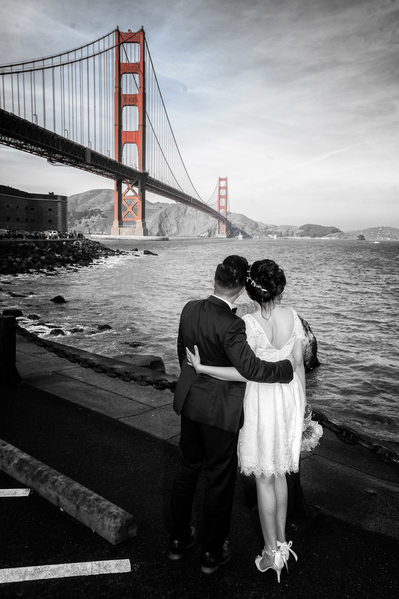 Fort Point Wedding Photography - Golden Gate Bridge