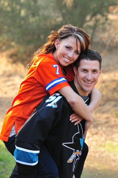 Engagement Portraits with Sports Uniforms in Clayton, CA