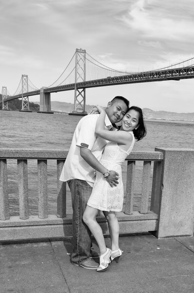 San Francisco Bay Bridge Engagement Portrait Photography