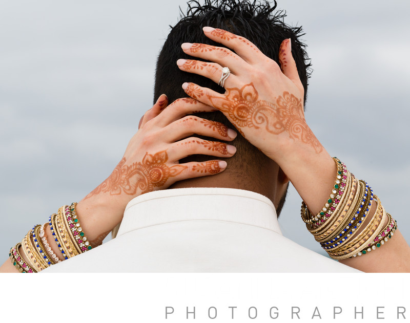 hindu wedding details on the hands