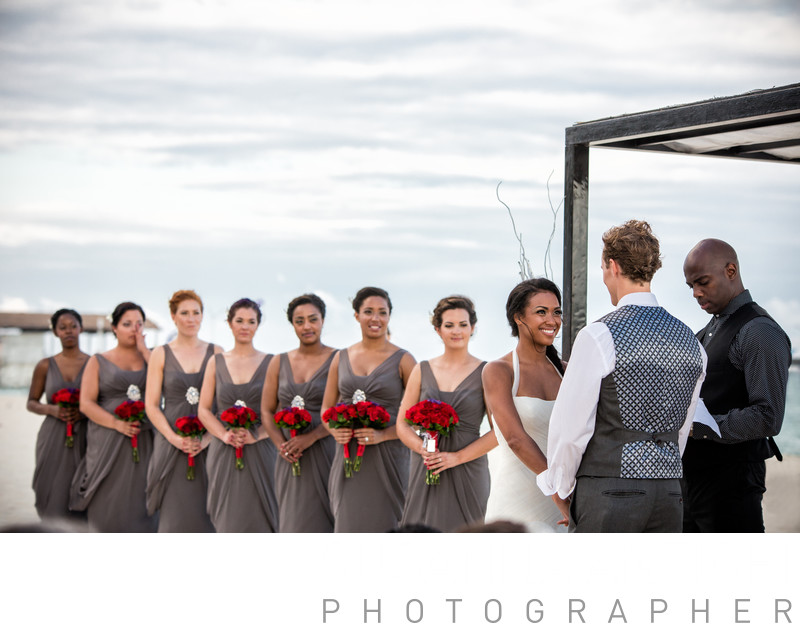 bridal party at the ceremony