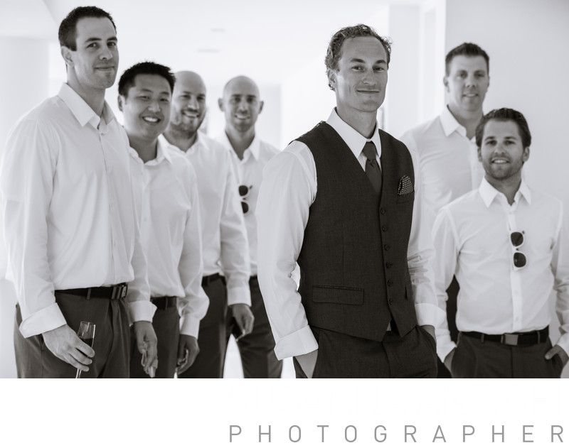 groomsmen and groom portrait