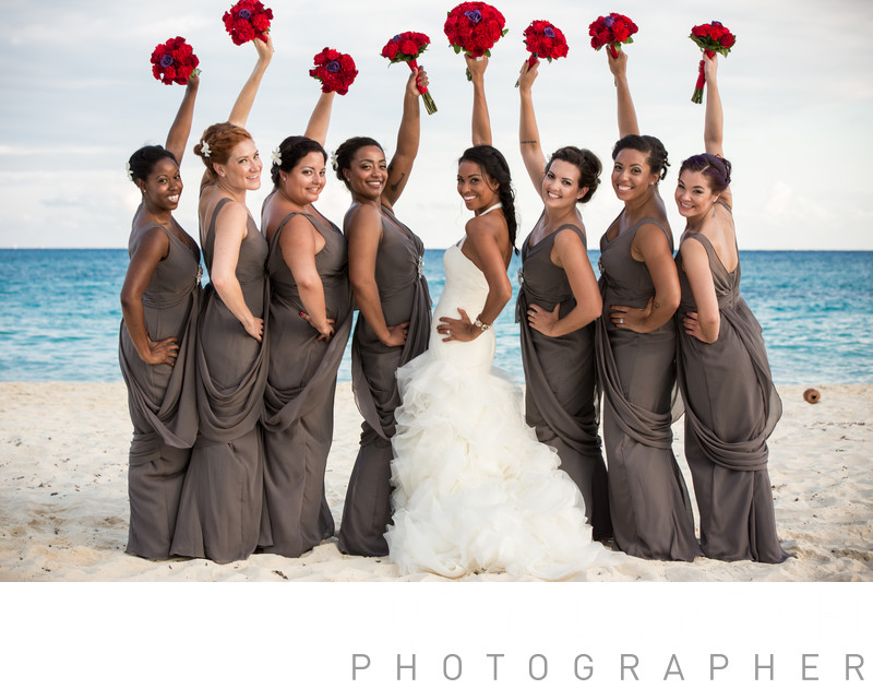 bride and bridesmaids shot