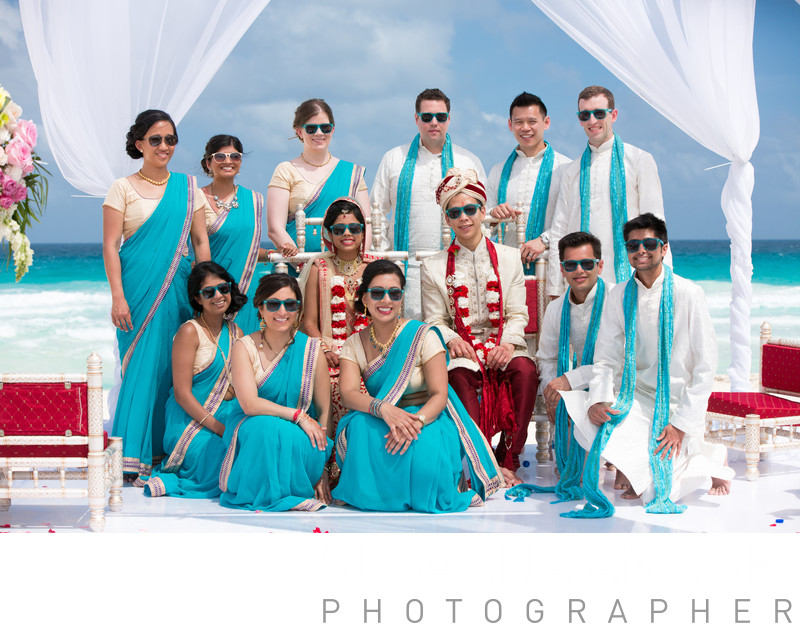 hindu bridal party picture