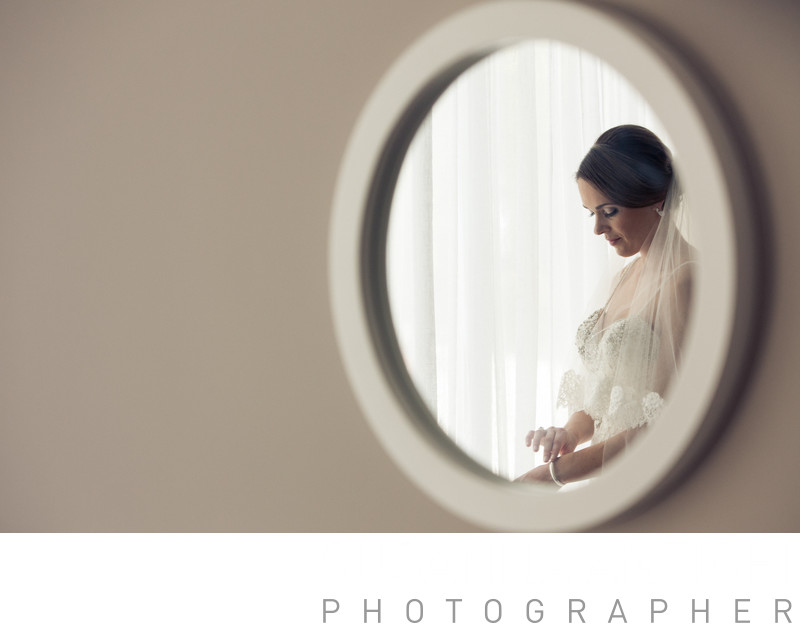 Glamour bride portrait