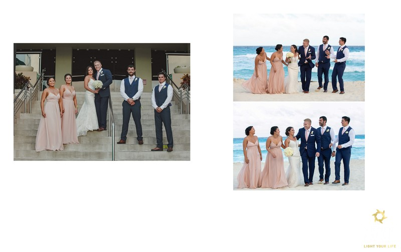 bridal party wedding album page