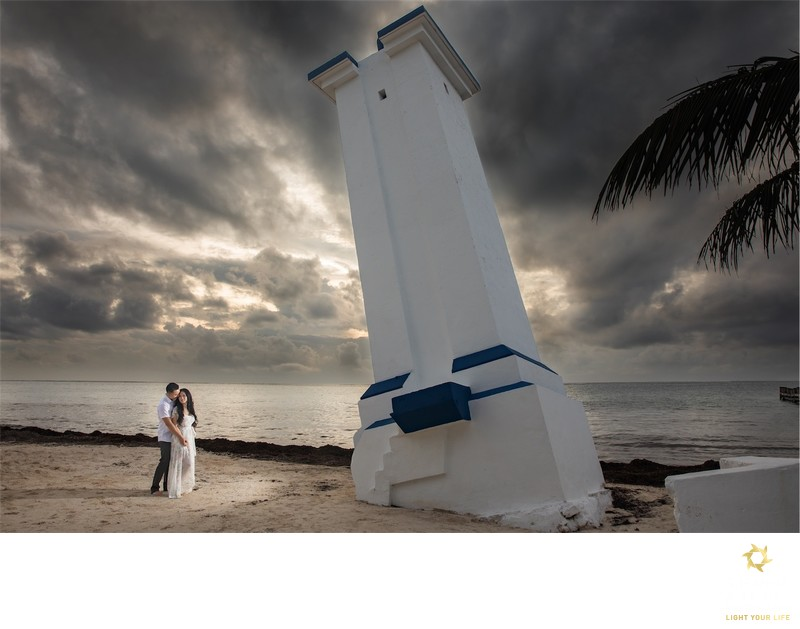sunrise photo session in Puerto Morelos, Mexico