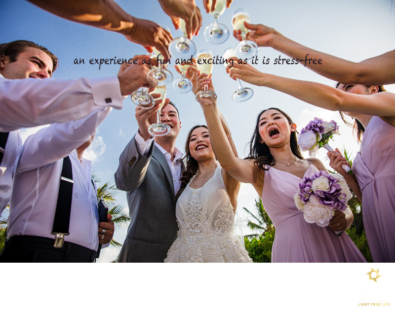 wedding cheers fun experience and stress free