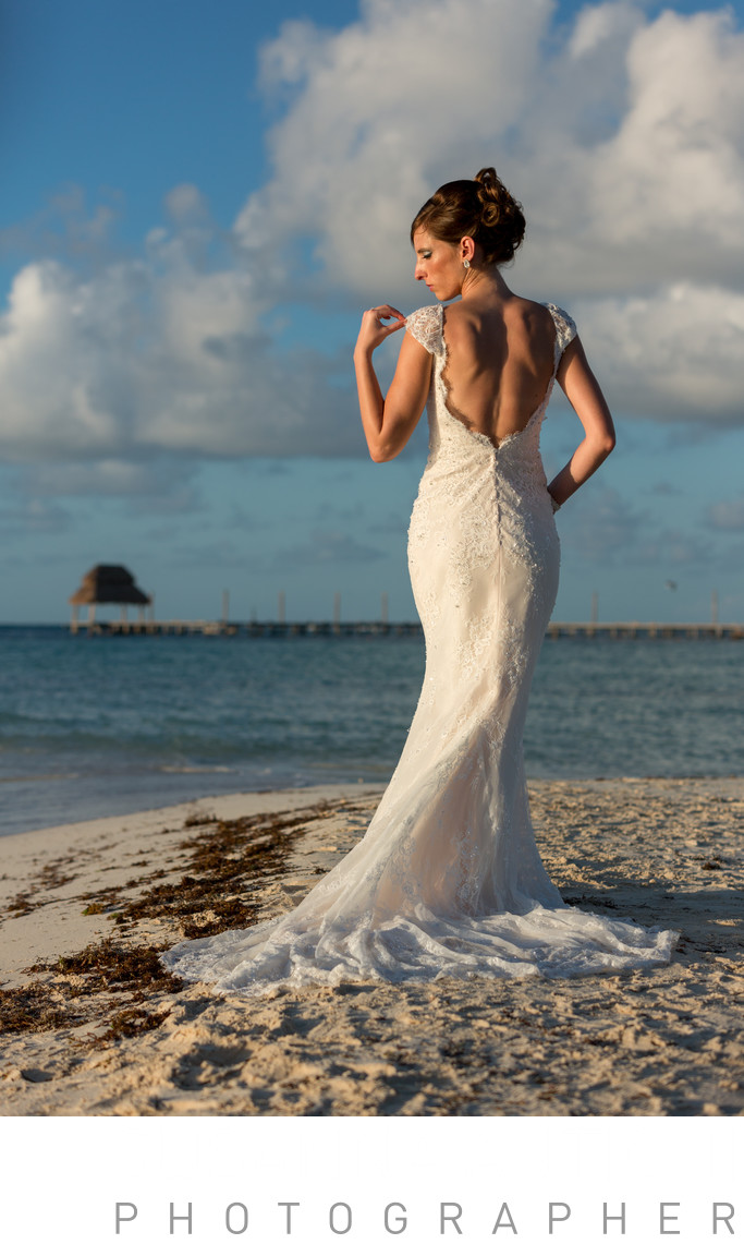 Bride in Isla Mujeres destination wedding