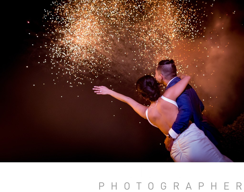 Fireworks are always welcome in wedding
