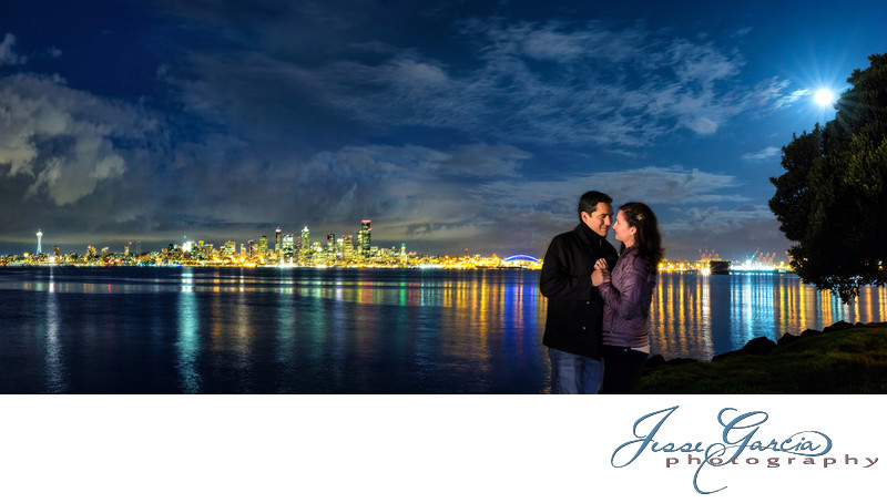 Alki Beach Engagement in Seattle, WA