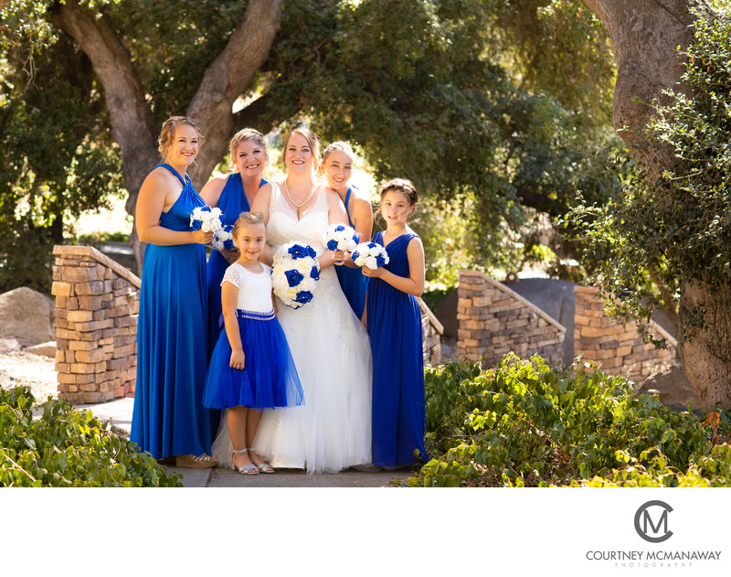 Escondido Wedding Venue Bridal Party Photo