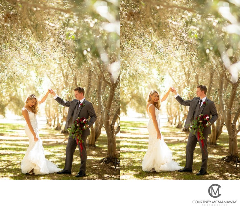 Fun Wedding Pictures Temecula Olive Oil Company
