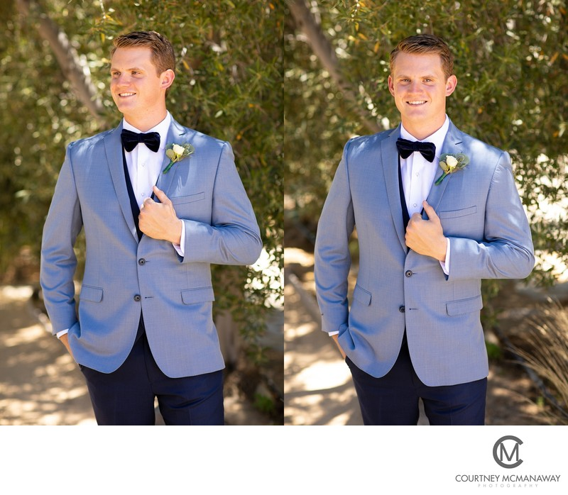 Groom Pictures at Temecula Olive Oil Company